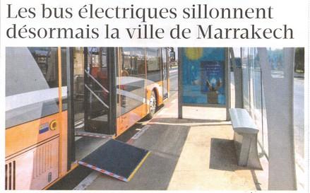 مقال صحفي حول الحافلات الكهربائية