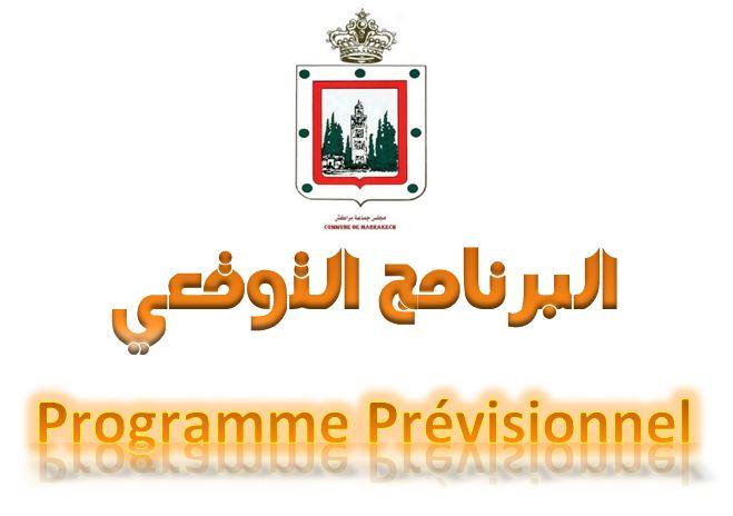 Programme prévisionnel 2020