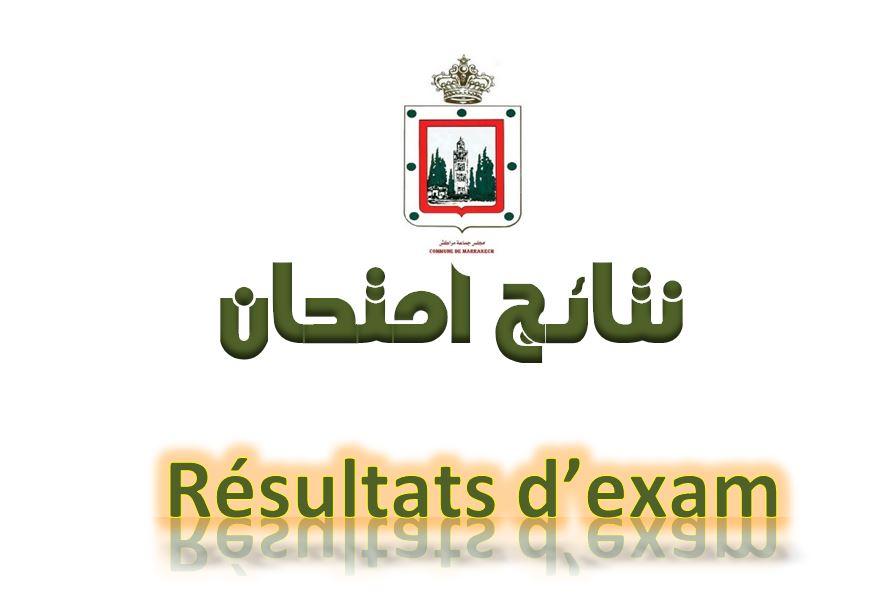 Résultats des examens pro 2020