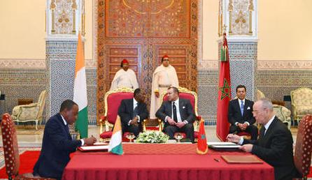 توقيع 16 اتفاقية تعاون ثنائي بين المغرب والكوت ديفوار بمراكش