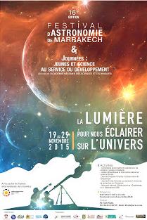 Festival d'Astronomie de Marrakech, 16ème Edition du 19 au 29 novembre 2015