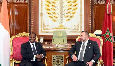 رئيس جمهورية كوت ديفوار يقوم بزيارة رسمية للمغرب بدعوة كريمة من جلالة الملك يومي الثلاثاء والاربعاء المقبلين